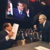 Lo scontro Berlusconi-Santoro non delude le aspettative: solito show del Cavaliere a La7