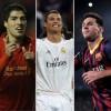 Scarpa d'oro, che sfida! Chi la spunterà tra Suarez, Ronaldo e Messi?