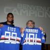 """Sampdoria, presentato Samuel Eto'o: """"Voglio vincere"""""""