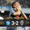 Napoli-Cesena 3-2: il goffo Andujar, il bomber Defrel e la magia di Mertens