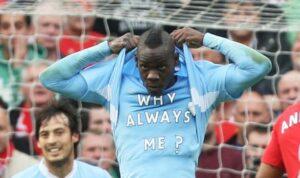 Mario Balotelli attaccante del Manchester City