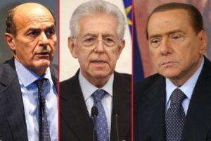 Bersani, Monti e Berlusconi