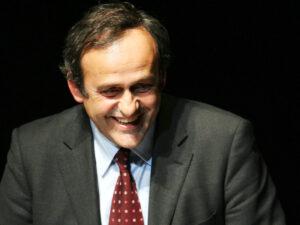 Michel Platini, presidente dell'UEFA e leggenda juventina