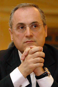 Claudio Lotito, presidente della Lazio e co-proprietario della Salernitana