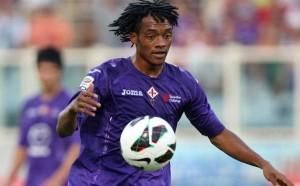 Cuadrado con la maglia della Fiorentina