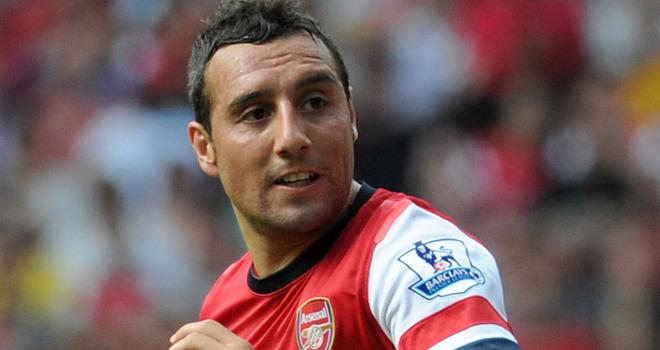 Santi Cazorla, a segno in Arsenal- Liverpool