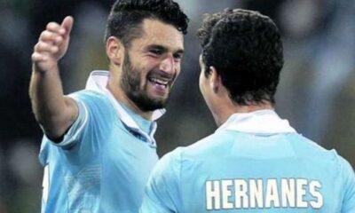 Candreva ed Hernanes. autori dei goal della Lazio