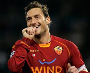 Francesco Totti, capitano e bandiera della Roma