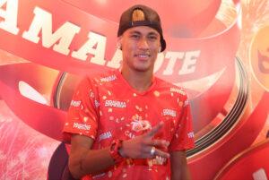 Neymar, presente ieri a Sapucaí