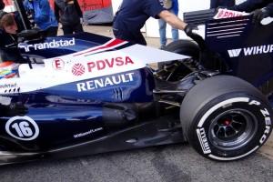 Nel dettaglio il nuovo retrotreno della Williams