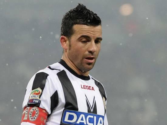 Totò Di Natale non riesce ad incidere contro la Fiorentina
