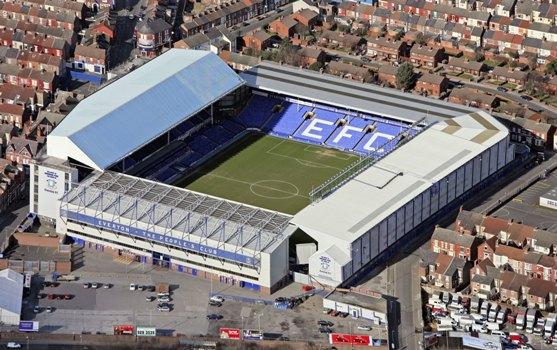 Il Goodison Park di Liverpool, tana dell'Everton