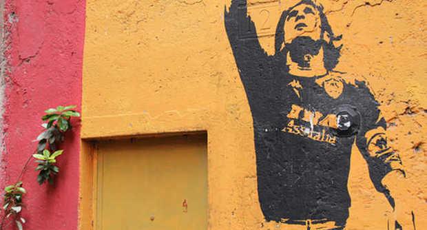 Il murales di Francesco Totti