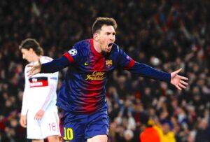 Leo Messi, in goal contro il Milan