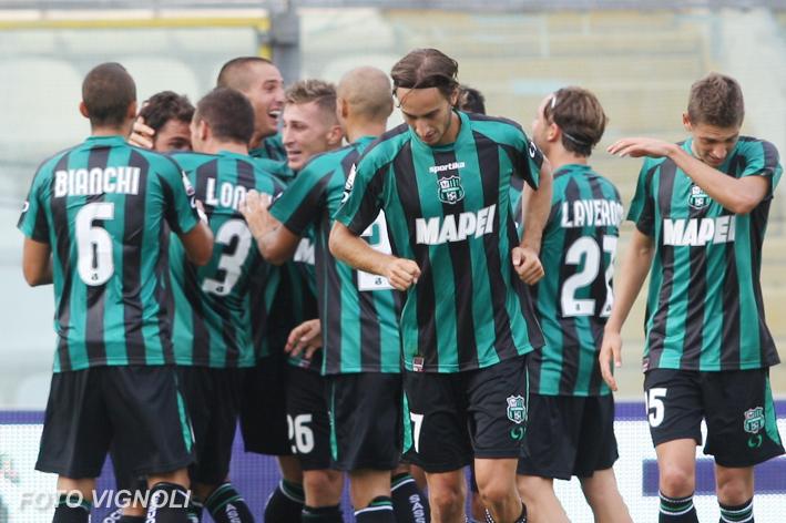 La gioia dei tifosi del Sassuolo nella Serie Bwin