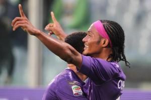 Cuadrado, ancora in gol con la Fiorentina
