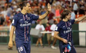 Ibrahimovic e Maxwell, protagonisti della rimonta del PSG