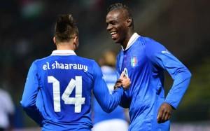 Balotelli, con la maglia della Nazionale italiana