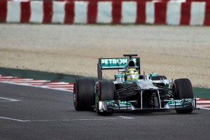 Nico Rosberg (Mercedes), il più veloce in pista nel testday 4