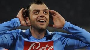 Goran Pandev con la maglia del Napoli