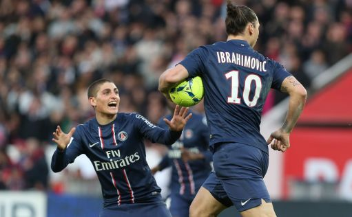 Ligue 1 Psg Verratti e Ibrahimovic