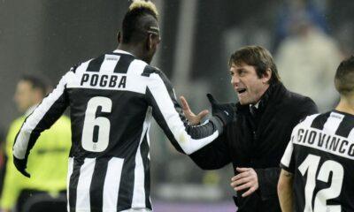Pogba e Antonio Conte, protagonisti nella vittoria contro l'Atalanta