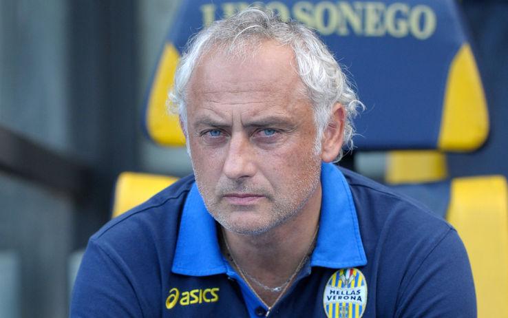 Andrea Mandorlini non può ritenersi soddisfatto per l'andamento dei suoi in Verona-Bologna