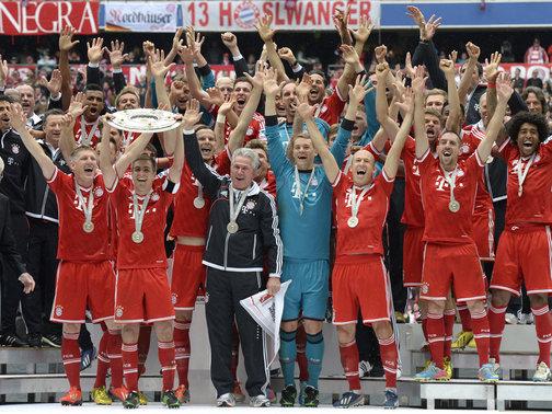 Il Bayern Monaco vincitore dell'ultima Bundeliga
