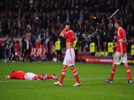 La disperazione dei giocatori del Benfica