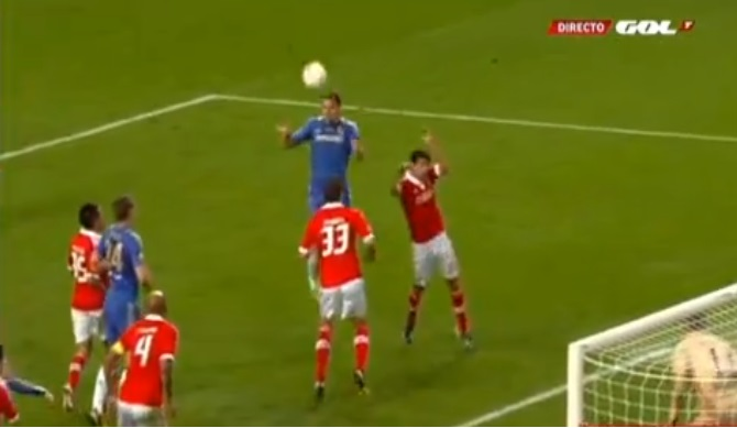 Gol Ivanovic Chelsea Benfica