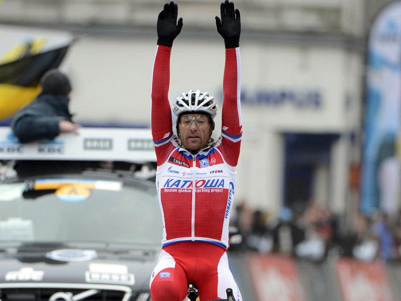 Luca Paolini, vincitore della terza tappa del Giro d'Italia 2013