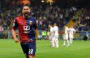 L'esultanza di Marco Borriello dopo il gol
