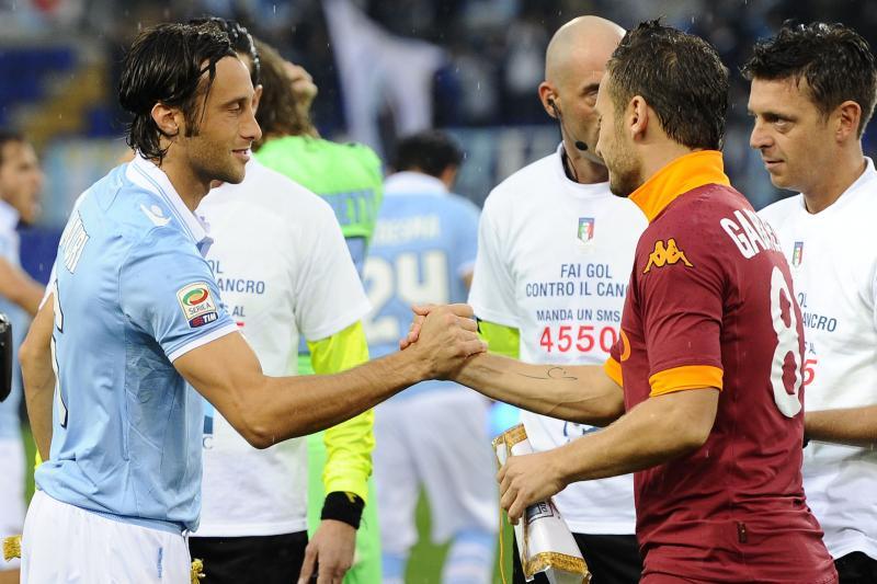 I capitani Mauri e Totti, pronti per la Coppa Italia