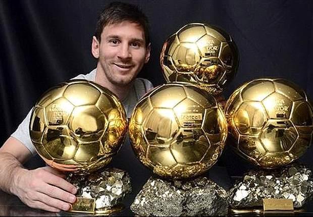 Lionel Messi e i suoi quattro Palloni d'Oro