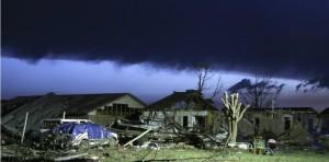 Case distrutte dal tornado