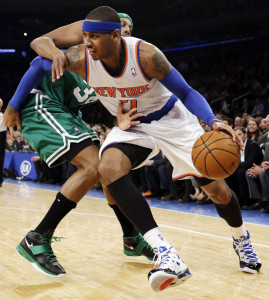 Anthony, imprendibile per i Celtics