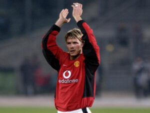 David Beckham, all'epoca del Manchester Utd