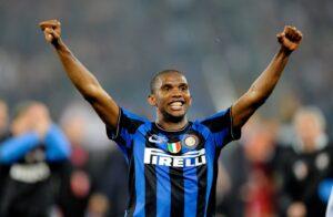 Samuel Eto'o con la maglia dell'Inter. Calciomercato nerazzurri