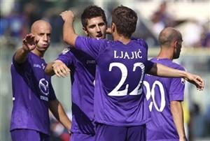 Jovetic e Ljajic esultano dopo un gol