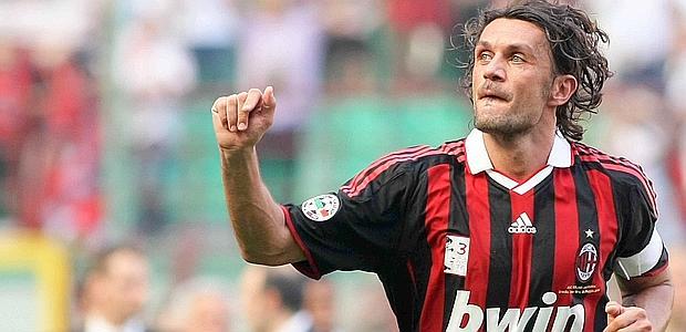 Paolo Maldini, storico capitano del Milan.