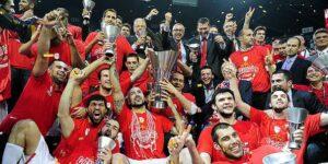La festa dell'Olympiakos
