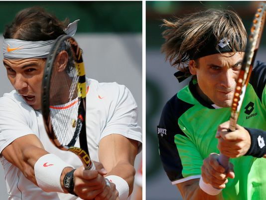 Nadal - Ferrer, due immagini del match