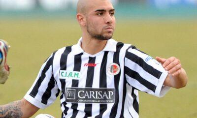 Simone Zaza con la maglia dell'Ascoli