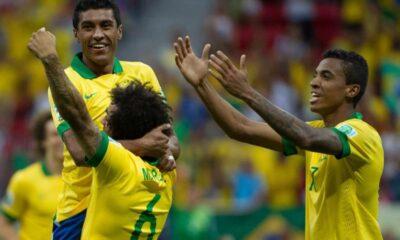 Esultanza del Brasile dopo un gol