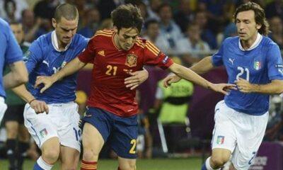 Spagna-Italia: una fase di gioco