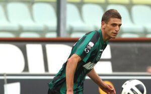 Domenico Berardi, espulso contro l'Inter.