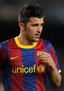 David Villa, attaccante del Barcellona. Alla Fiorentina con Ilicic?