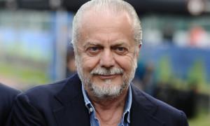 Il presidente del Napoli Aurelio De Laurentiis e il tormentone Cavani