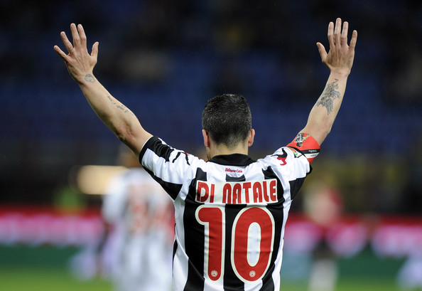 Totò Di Natale con la maglia della sua Udinese