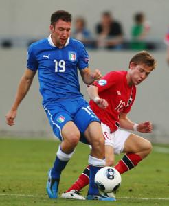 Regini In azione contro la Norvegia all'Europeo Under 21